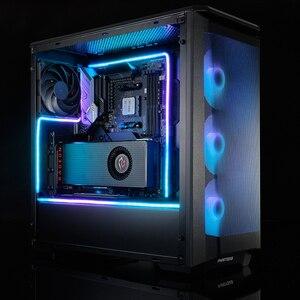 Image 3 - PHANTEKS Combo ışık şeridi ARGB Neon bilgisayar kasası dekorasyon LED şerit 5V 3PIN ışık başlığı AURA 400mm X 2 adet