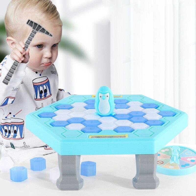 Mini pinguim armadilha jogo de tabuleiro pai-criança entretenimento interativo mesa brinquedos aliviar o estresse crianças adulto brinquedo jogo de mesa
