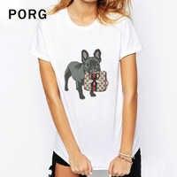 Camiseta Unisex franela Pug Bulldog camiseta estampado tops gótico streetwear blanco camiseta tumblr mujeres camisetas verano mujer 2019
