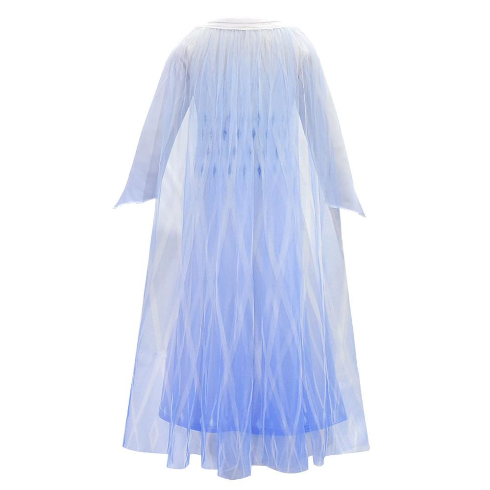Elsa birthday party white princess dress <font><b>wig</b></font> mask set 2020 new <font><b>anna</b></font> elsa <font><b>2</b></font> girl dress <font><b>frozen</b></font> <font><b>2</b></font> christmas halloween set image