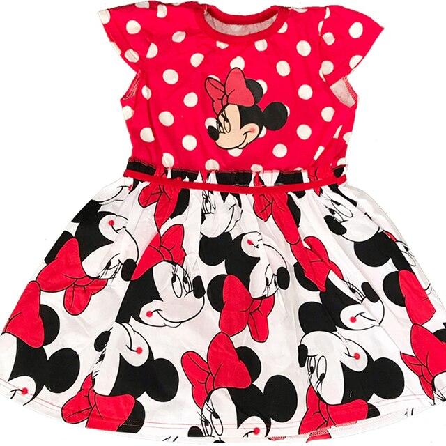 Nowe letnie bawełniane dziewczynek Cartoon sukienka z długim rękawem odzież dziecięca dzieci księżniczka sukienki odzież codzienna 0-2 lata
