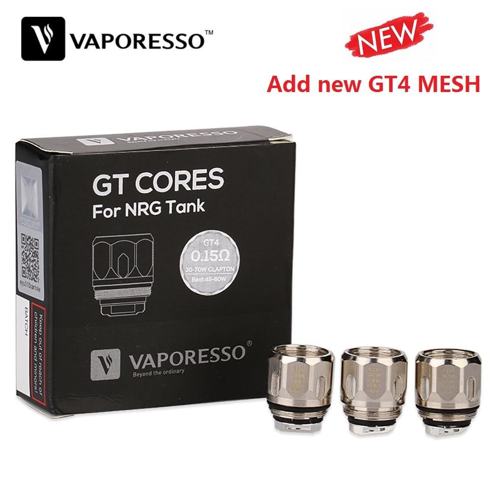 Original Vaporesso NRG GT Core Coil 3pcs 0.4ohm/0.15ohm/0.2ohm/0.5ohm For NRG / NRG SE Tanks Atomizer E-cig Vape Vaporezer Swag