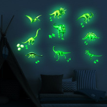 Planet Solar Dinosaur  Fluorescent Wall Stick The Universe Planet Children Room Bedroom Luminous Wall Stickers купить недорого в Москве
