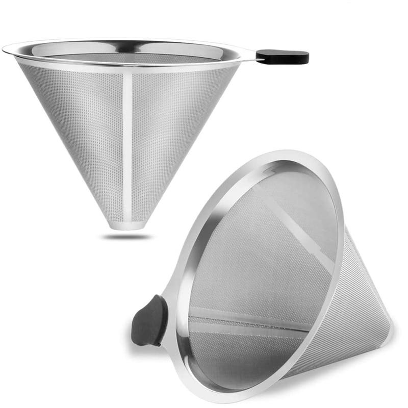 Кофе фильтры для залить над металлом кофе капельница многоразовые конусные фильтры Carafes и другие кофеварки