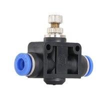 цена на throttle valve SA 4-12mm Air Flow Speed Control Valve Tube Water Hose Pneumatic Push In Fittings
