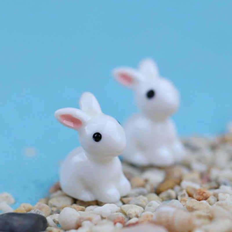 2019 1PCS Bello Della Resina Piante Coniglio Carino Micro Paesaggio Succulente Ornamenti Decorazione Vegetale Giardino Miniature FAI DA TE Bambola