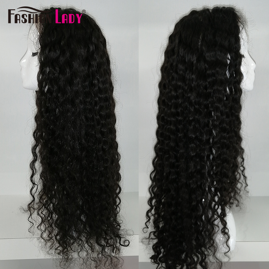 Fashion Lady 360 Lace Front Human Hair Wig Natural Color Malaysian Wave Spanish Wave 150 180 Density 100% Human Hair Wigs