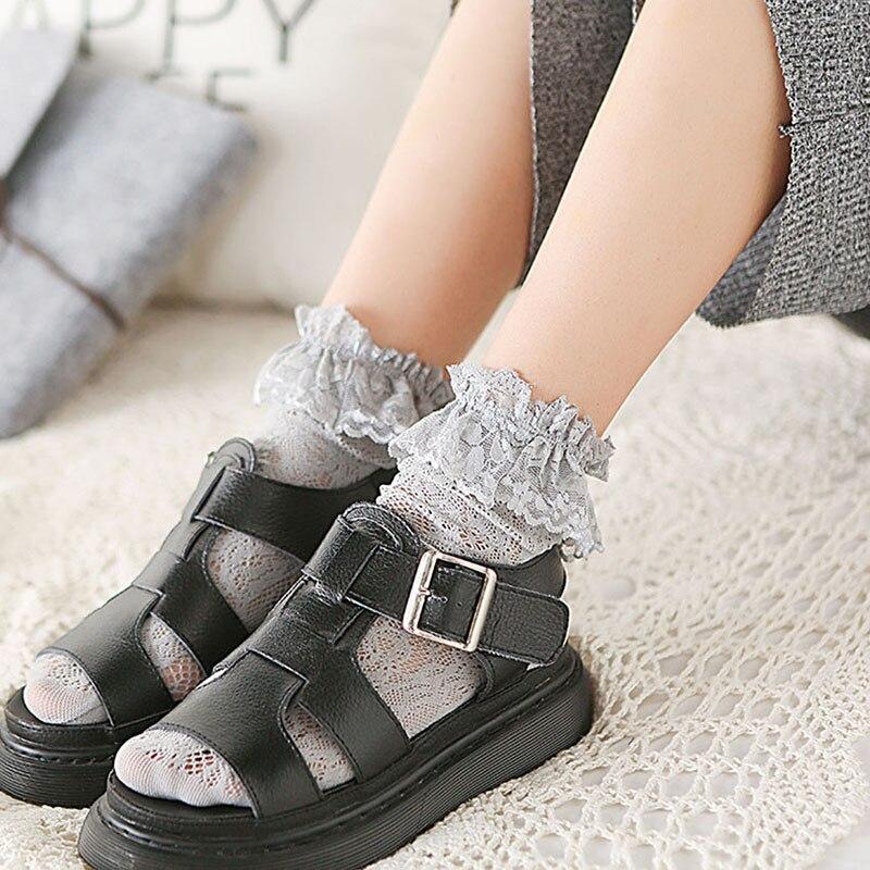 Женские кружевные носки, 5 пар/Лот, осенне-зимние носки, впитывающие пот, дышащие носки, BCW012