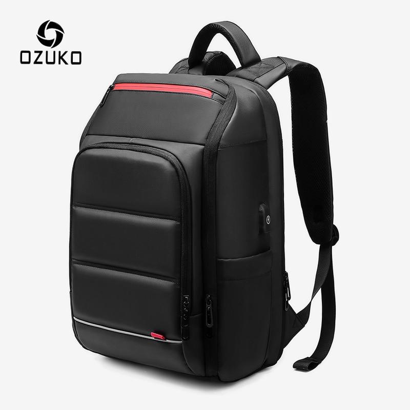 OZUKO 15.6 Inch Laptop Backpack For Men  Waterproof USB Charging Backpacks Male Large Capacity Outdoor Travel Backpack Mochila
