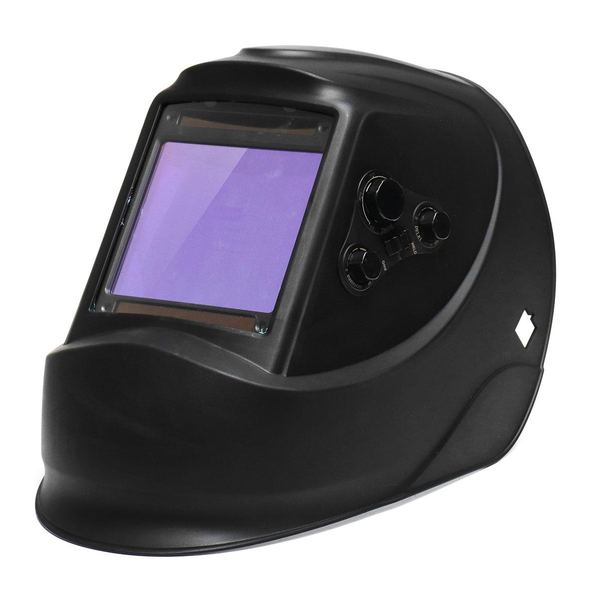 Big View Solar Auto Darkening Welding Helmet Mask 4 Arc Sensor DIN5-DIN13 TIG MIG MMA Grinding Welding Cap/Welder Glasses