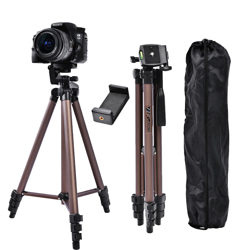 fosoto WT3130 Aluminum Alloy Mini Camera Tripod Stand With Phone Holder For Canon Nikon Sony DSLR Digital Camera DV Camcorder in Live Tripods from Consumer Electronics