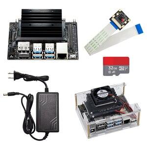 Image 1 - Jetson ננו מפתחים ערכת הדגמת לוח AI פיתוח לוח פלטפורמת A02 גרסה + מקרה + מאוורר + 32G SD כרטיס + DC כוח מתאם + AI מצלמה