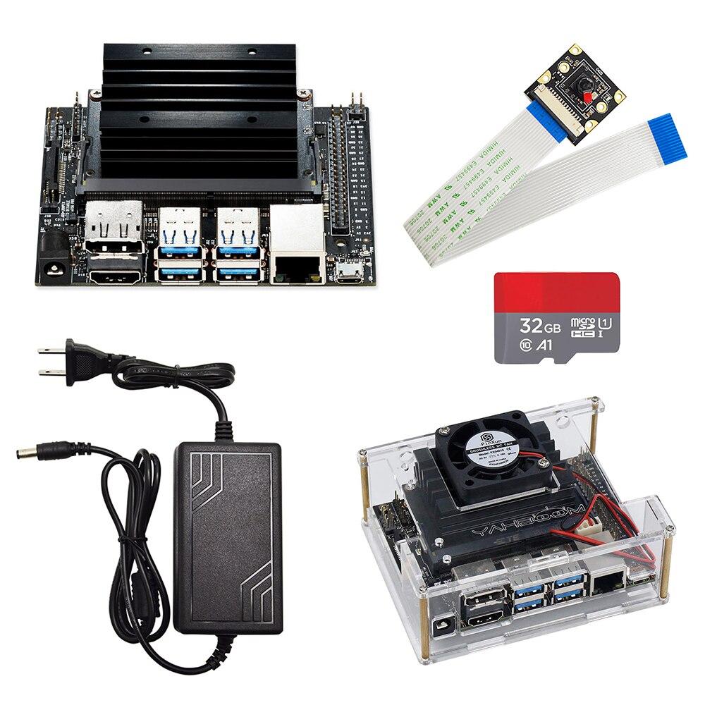Jetson Nano Developer Kit Demo Board AI Development Board Platform With Demo Board Case +32G SD Card +DC Power Adapter+AI Camera