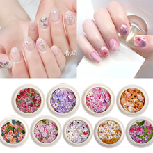Diy Accessories Jewelry Nail Wood Pulp Piece Color Flower Wood Pulp Piece Daisy Ins Mixed Nail
