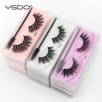 YSDO Eyelash Wholesale 5/10/20/50/100 Pairs 3D Mink Lashes Natural False Eye Lashes Wholesale Mink Eyelashes Makeup Fake Lashes 1