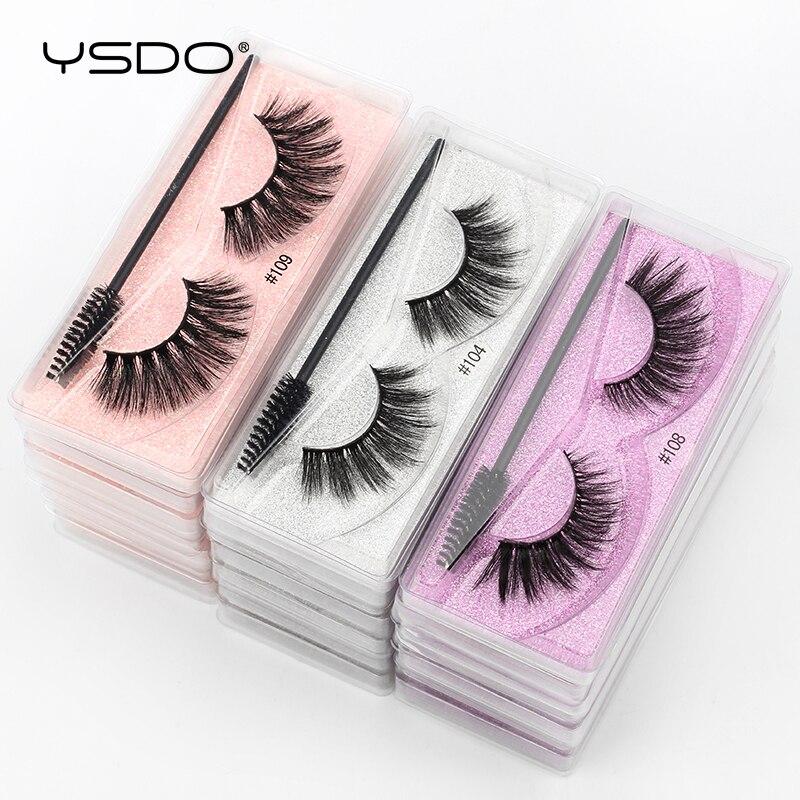 YSDO Eyelash Wholesale 5/10/20/50/100 Pairs 3D Mink Lashes Natural False Eye Lashes Wholesale Mink Eyelashes Makeup Fake Lashes