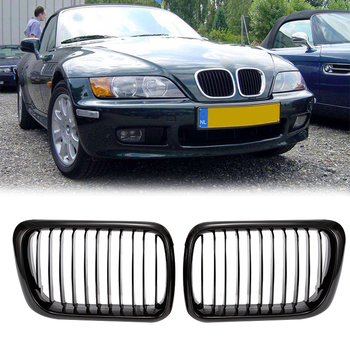 2PCS Gloss Black Car Styling Front Bumper Grille Car Front Grille For BMW E36 318i 320i 323i 325i 328i 1997-1998 Car Accessories image