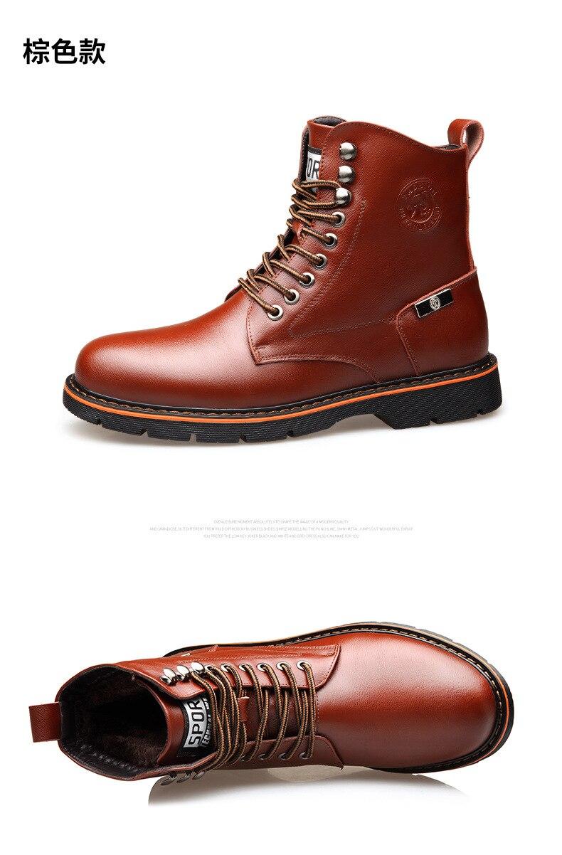 Outono-inverno grande tamanho 38-44 botas de neve