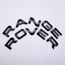 Housse de moteur en ABS chromé/noir, Logo de coffre, Logo de lettres, Badge autocollant pour Range Rover Sport Evoque Vogue