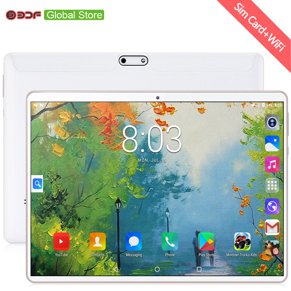 New 10 Inch Original Android 7.0 Tablet PC Dual SIM Cards 3G Phone Call Mobile Tablets WiFi GPS Google Play 10.1 Inch Tab