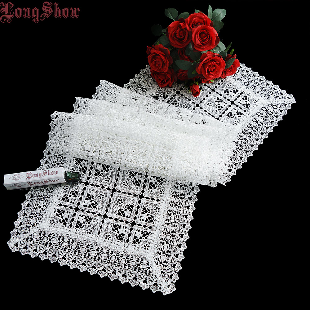 Home Hotel Banquet Party Newest Modern Geometric Plaid Design Tuape/Coffee Embroidered 100% Polyester Table Runner