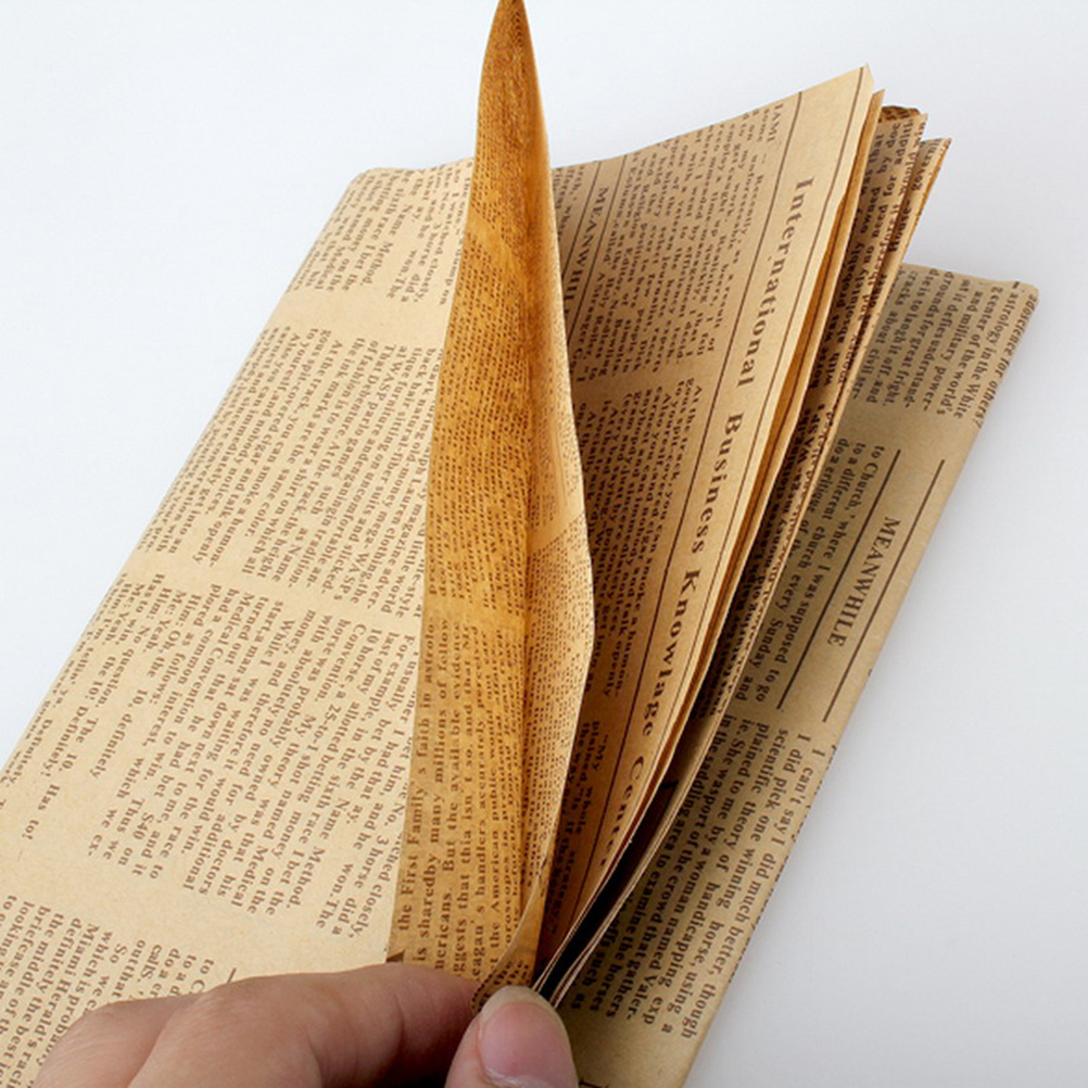 Wrapping Paper Vintage Newspaper Gift Wrap Artware Packing Package Paper Christmas Kraft Paper Book Color Accessories 52x75cm
