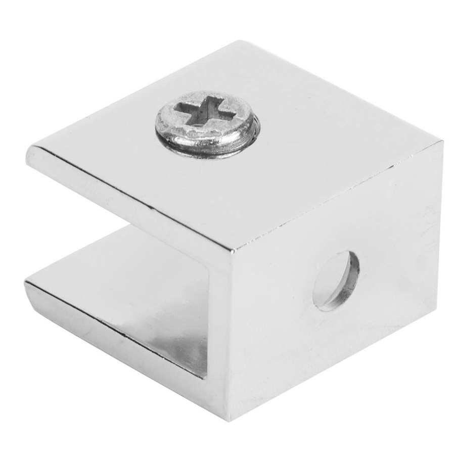 4 adet çinko alaşım cam kelepçe braketi sabitleme klip ev donanım aksesuarları için 3.3-4mm cam