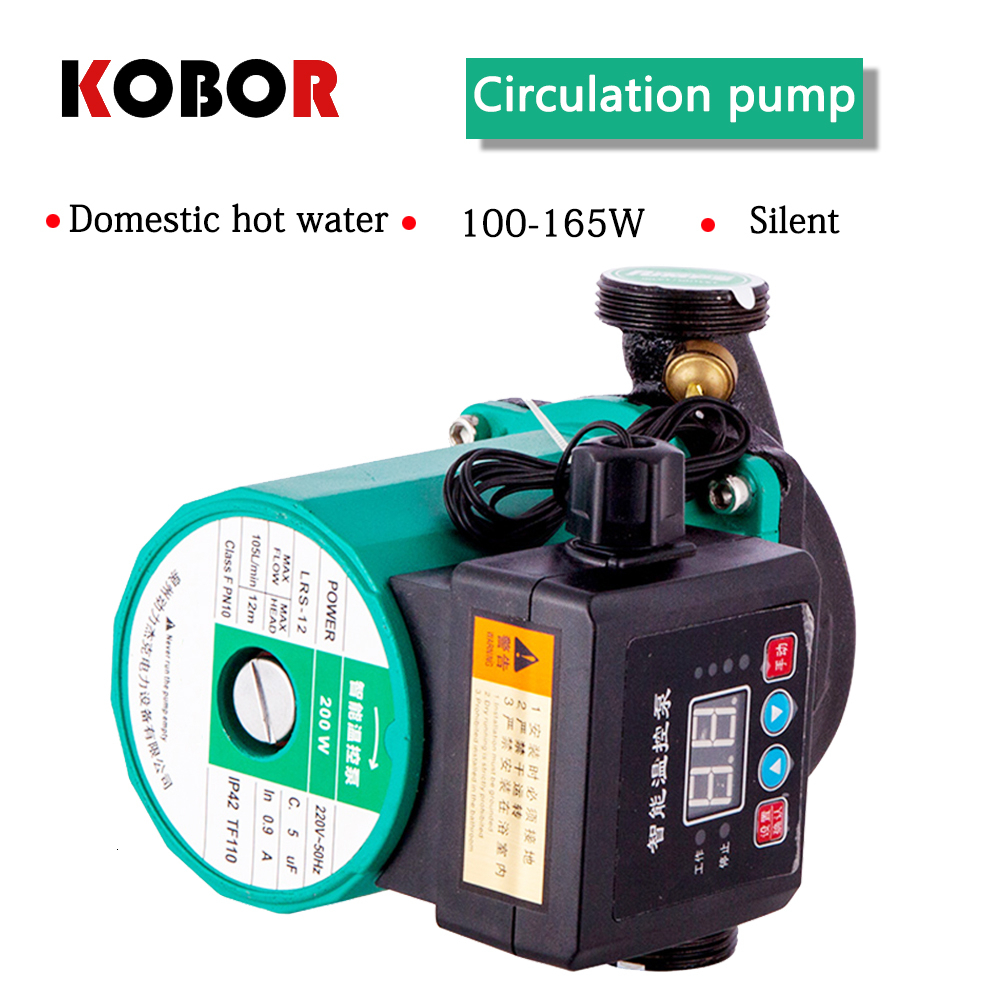 (New 2019)100W / 165W Household Floor Heating Circulating Pump Boiler Hot Water Shield Pump Hot Water Pump