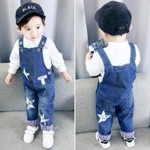 DIIMUU Baby Boy's Clothing Kids Bib Pants Girls Denim Overalls Casual Jeans Dungarees Children Rompers 1-4 Years