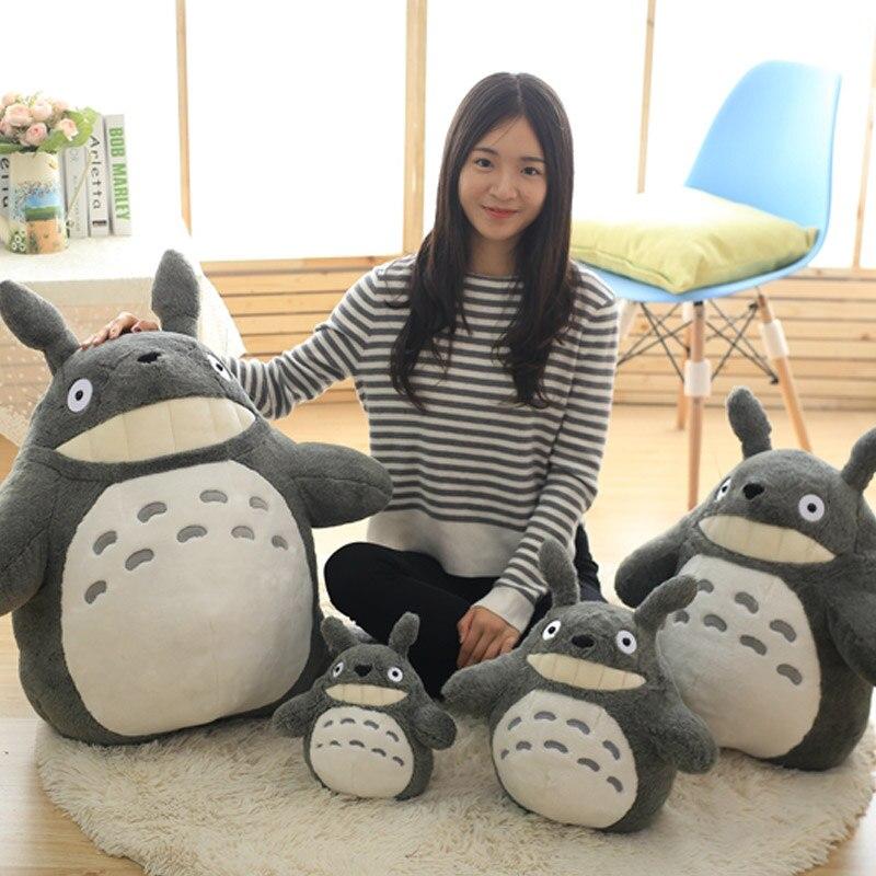 30-70cm Adorable Totoro Plush Toys Stuffed Soft Kawaii Cartoon Character Doll with Lotus Leaf or Teeth Kids Gifts