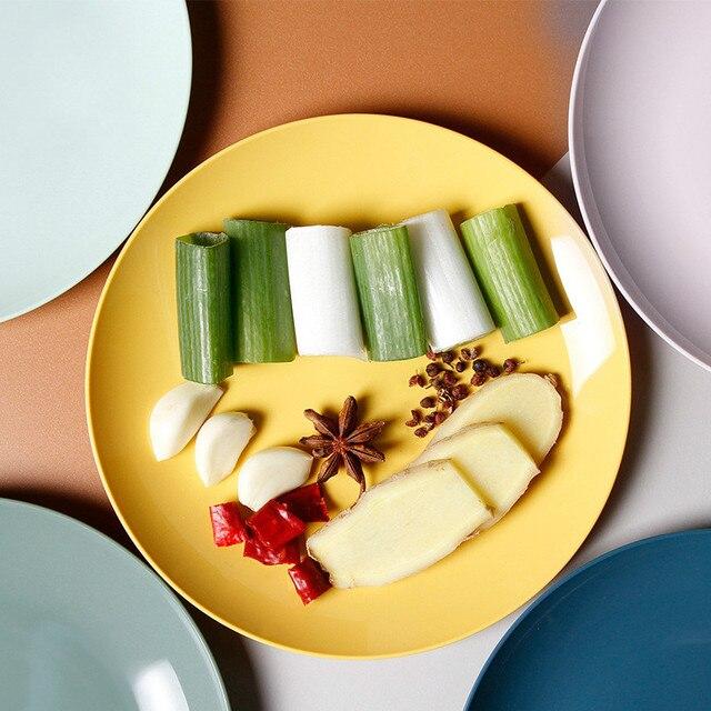 Kitchen Plastic Food Sauce Dish Small Vinegar Taste Board Snack Plates Creative Imitation Porcelain Round Household Fruit Plate 2