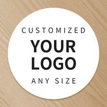 Baskı kişiselleştirilmiş Logo etiketi özel şeffaf çıkartmalar PVC vinil kağıt KraftPaper kek etiket kirpik etiketleri marka