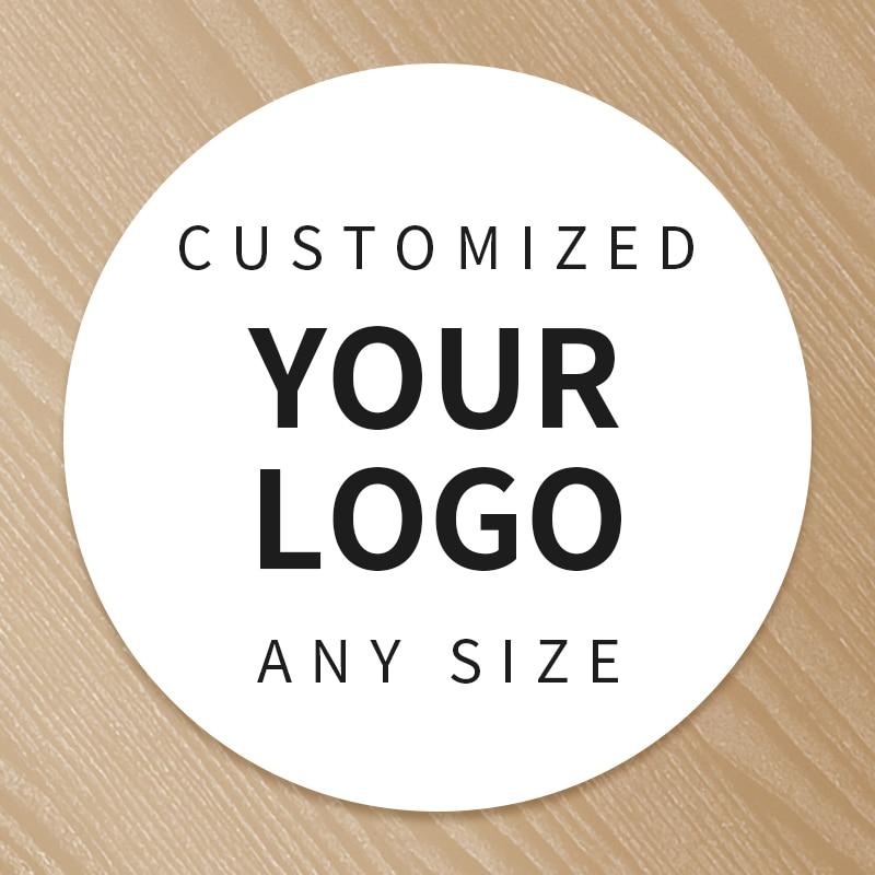 Custom Printing Personalized Logo Label Stickers PVC Vinyl Paper PET PP Kraft Paper Seal Adhesive Sticker Labels Wedding Brand