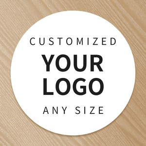 Image 1 - הדפסה אישית לוגו תווית מותאם אישית שקוף מדבקות PVC ויניל נייר KraftPaper עוגת מדבקת ריסים תוויות מותג