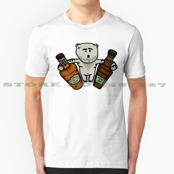 Hungover Bear Cool Design Trendy T-Shirt Tee Bear Hungover Ted Beer Funny Poor Bad Drunk Drinking Cheap Liquer Liqueur Whiskey image