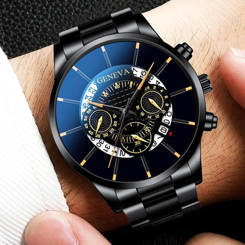Men's Watch Relogio Masculino Fashion Men's Watch Sport Watches Luxury Calendar Men Watch Steel Mesh Band Watch Reloj Hombre @5