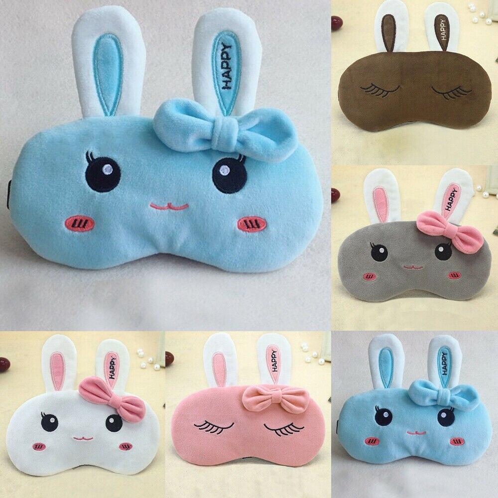 Hirigin Kawaii Rabbit Eyemask For Women And Girls Cute Cartoon Travel Sleepwear Eye Masks 2019 New