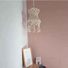 цена на Boho Decor Macrame Tapestry Wall Hanging Hand-woven Chandelier Lampshade House Model Room Coffee Restaurant Decor Wall Tapestry
