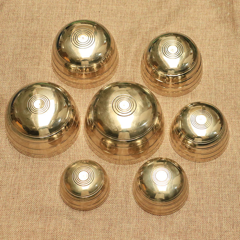 7-piece Set Singing Bowl Tibetan Buddhist Brass Yoga Singing Bowl Meditation Wall Dishes Home Decoration Nepal Chakra Meditation