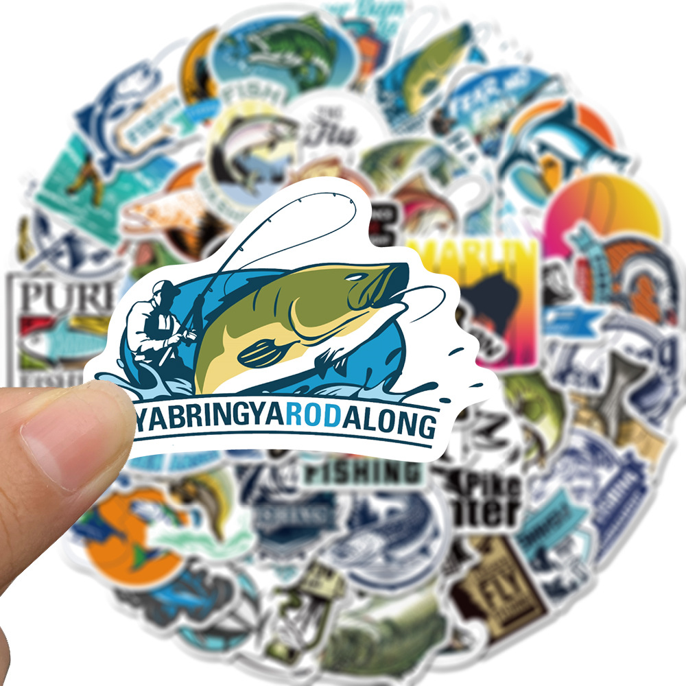 Hooked on Fishing Sticker Pack (50 piece) 2