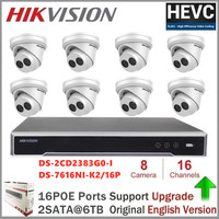 Hikvision IP Camera Kits 8MP Security Camera DS 2CD2383G0 I 8MP IP Camera CCTV Video Surveillance 16CH 4K Network POE NVR Kit