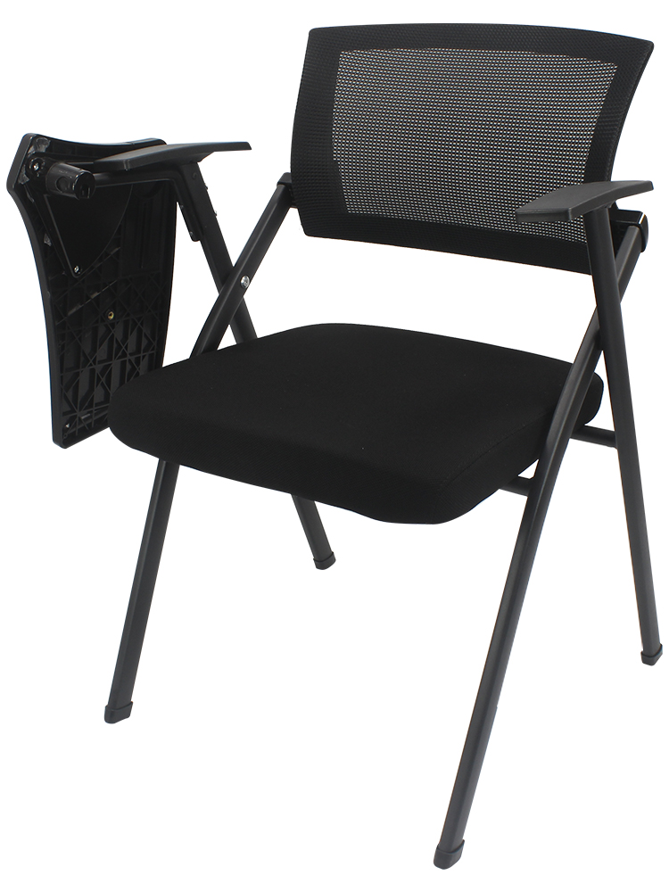 Training Chair With Tablet Chair Thickened One Small Table Folding Conference Room Chair Staff Office Chair News Chair