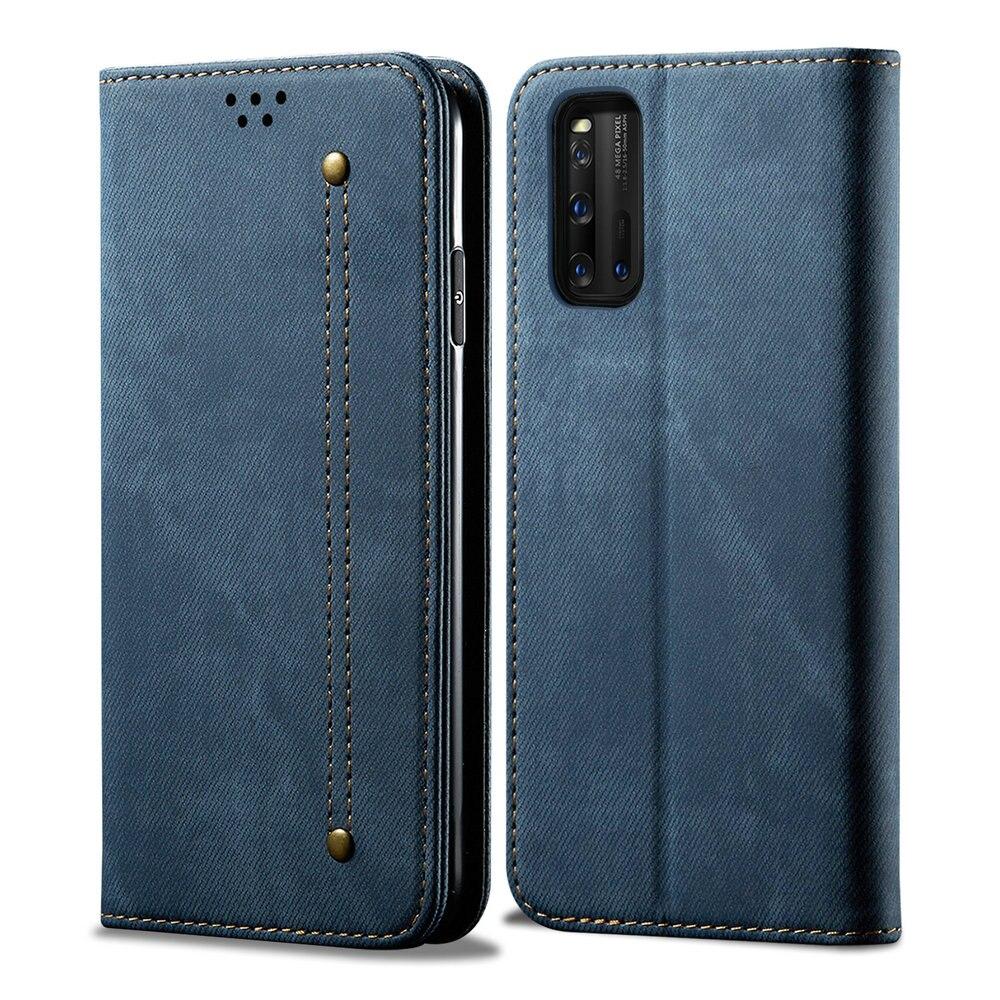 For Vivo Iqoo Neo 3 5G Flip Case Luxury Denim Solid Leather Wallet Phone Cover For Vivo Iqoo Neo 3 Case Iqoo Z1 Z 1 1Z NEO3 Capa