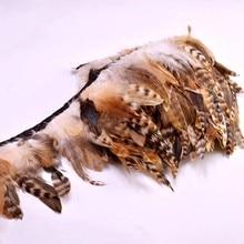2 metro natural galo penas fita diy festa pena costura roupas pluma guarnição franja para decorações de casamento artesanato 13-18cm