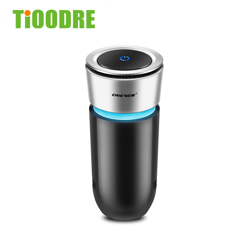TiOODRE PowerfulCar Air Purifier 12V Negative Ion Ion Air Freshener Automatic Nebulizer Pm2.5 Elimination Cup Car Charger