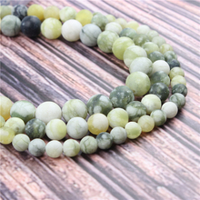 Hot?Sale?Natural?Stone?Frosted Black Lemon15.5?Pick?Size?4/6/8/10/12mm?fit?Diy?Charms?Beads?Jewelry?Making?Accessories