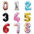Радужные фольгированные воздушные шары, украшение для дня рождения, цифровые шары с цифрами для свадьбы, рождественского подарка, праздвеч...