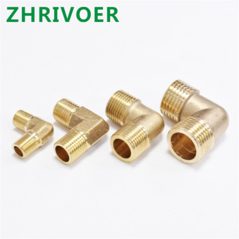 BSP Pipe Elbow Fitting Coupler Brass Tube Fitting Adapter 90 Degree 1/8 1/4 3/8 1/2
