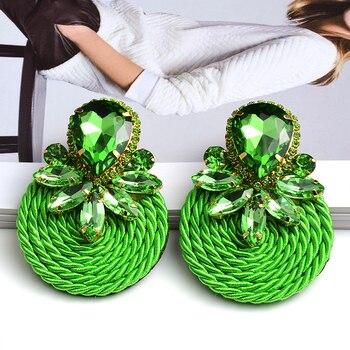 Colorful Crystal Handmade Round Earrings  2