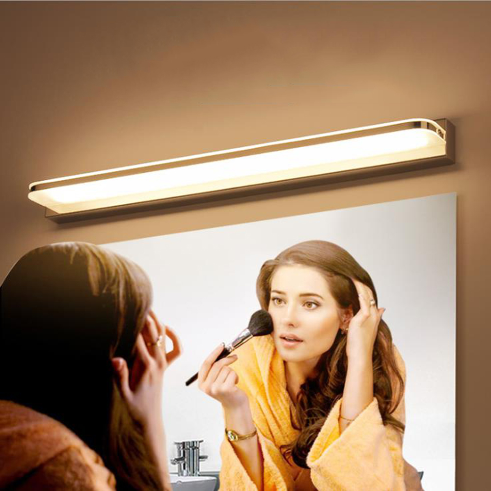 Zerouno Led Wall Lamp Bathroom Mirror Lamp Vanity Light 7W 42cm Stainless Steel Base Waterproof Led Makeup Wall Lights Washroom